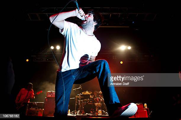 George Pettit of Alexisonfire performs on stage at The Forum on November 11 2010 in London England