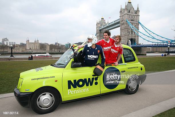 George Pinner Simon Mantell and Ashley Jackson during NOWPensions England Hockey Photo Shoot at Potters Field on April 3 2013 in London England