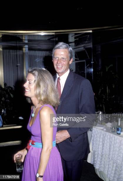 George Plimpton and wife during RFK Pro-Celebrity Tennis Tournament Reception at Rainbow Room at Rockefeller Center in New York City, NY, United...