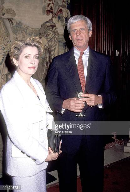 "George Plimpton & Catherine Deneuve during ""Montblanc de la Culture"" Luncheon at NYC Public Library in New York City, NY, United States."