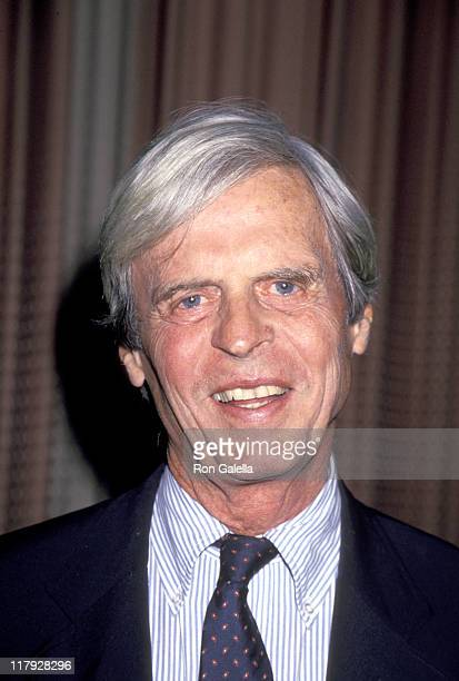 George Plimpton during Gene Shalit Pro-Celebrity Billiards Classic for MS at Ramada Hotel 7th Avenue in New York City, NY, United States.