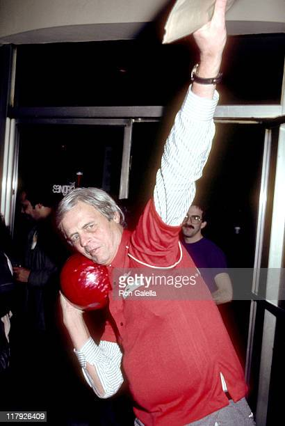 George Plimpton during Writers Community Benefit for Young Writers at Mid-City Bowling Lanes in New York City, NY, United States.