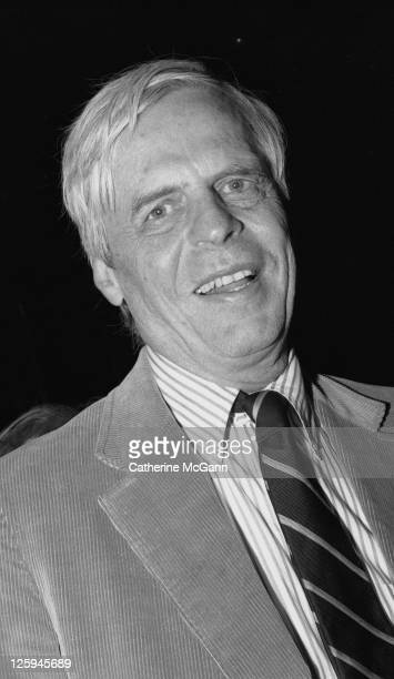 George Plimpton poses for a photo at a party for the 25th anniversary of Elaine's restaurant on April 25, 1988 in New York City, New York.