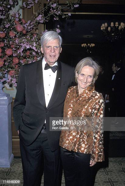 George Plimpton & wife Sarah during 2002 PEN Literary Gala at Pierre Hotel in New York City, NY, United States.