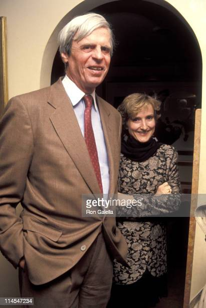 George Plimpton & wife Sarah during Joan Rivers 1st Oscar Night Party at San Domenico in New York City, NY, United States.