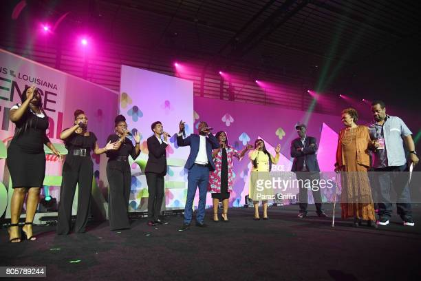 George Potts Young CeCe Winans and Jekalyn Carr perform onstage for Cissy Houston during a tribute at the 2017 ESSENCE Festival presented by CocaCola...