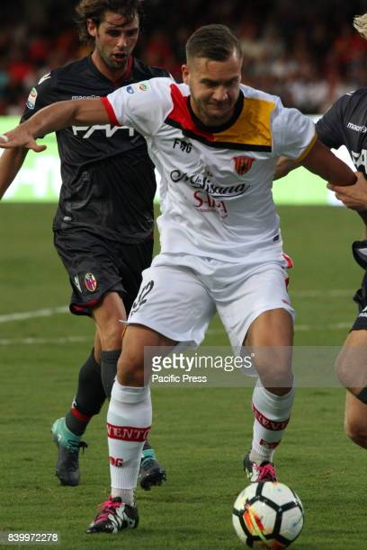George Puscas during soccer match between Benevento Calcio and Bologna FC at Stadio Comunale Ciro Vigorito in Benevento Final result Benevento Calcio...