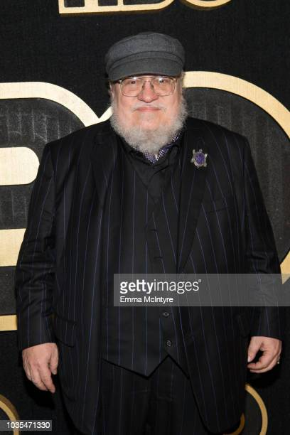 George R. R. Martin arrives at HBO's Post Emmy Awards Reception at the Plaza at the Pacific Design Center on September 17, 2018 in Los Angeles,...