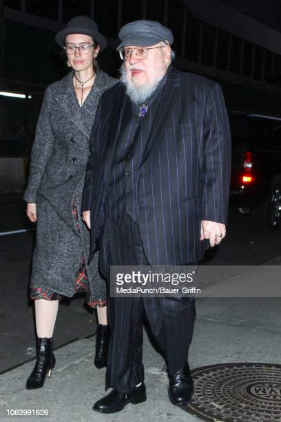 George R. R. Martin is seen on November 20, 2018 in New York City.