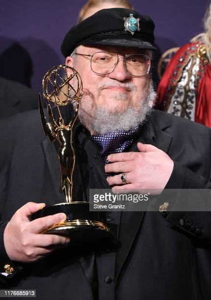 George R. R. Martin poses at the 71st Emmy Awards at Microsoft Theater on September 22, 2019 in Los Angeles, California.