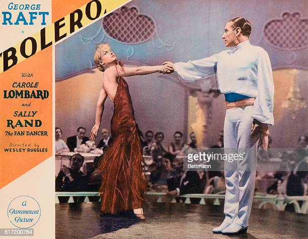 George Raft in Bolero with Carole Lombard and Sally Rand the Fan Dancer Directed by Wesley Ruggles A Paramount Picture