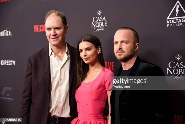 "George Ratliff, Emily Ratajkowski and Aaron Paul attend ""Welcome Home"" Premiere at The London West Hollywood on November 04, 2018 in West Hollywood,..."