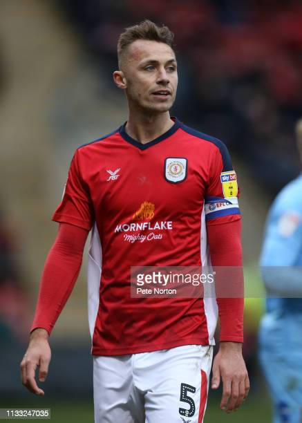 George Ray of Crewe Alexandra in action during the Sky Bet League Two match between Crewe Alexandra and Northampton Town at Gresty Road on March 02...