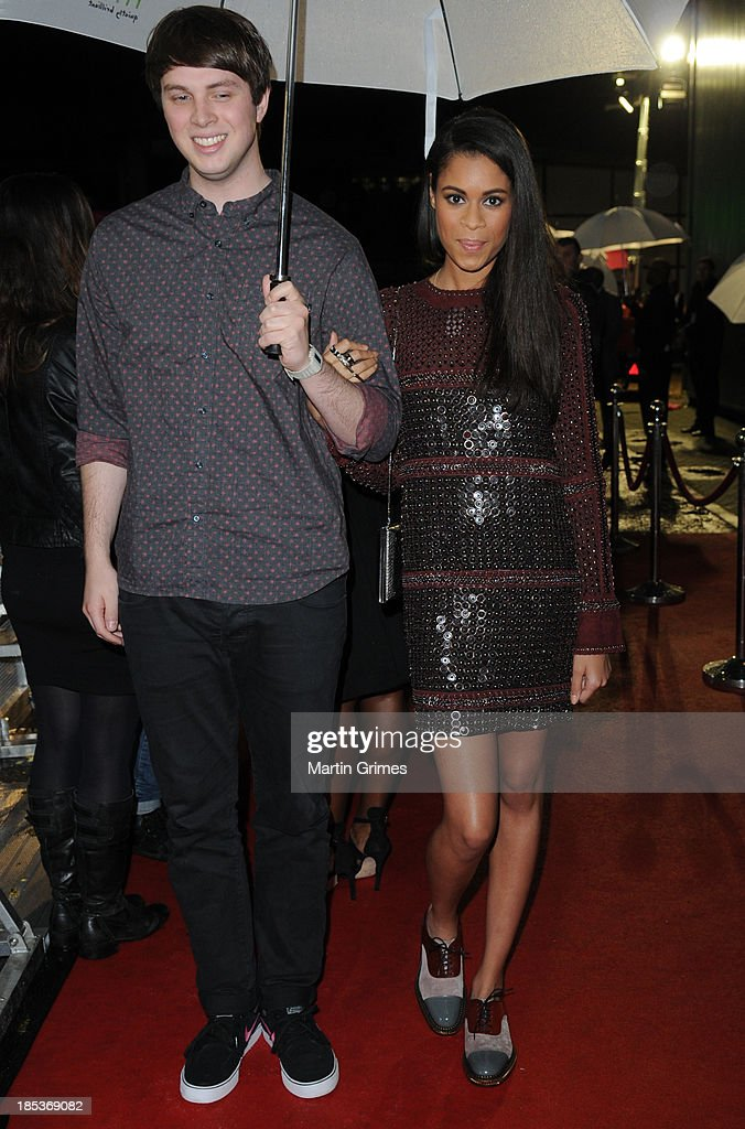 George Reid and Aluna Francis of AlunaGeorge arrive at the 18th anniversary MOBO Awards at The Hydro on October 19, 2013 in Glasgow, Scotland.