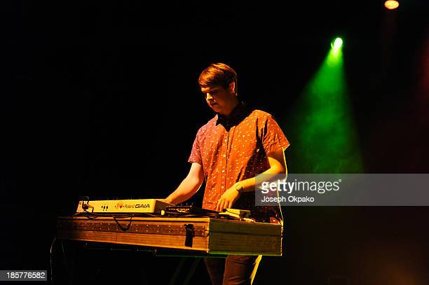 George Reid of AlunaGeorge performs at Shepherds Bush Empire on October 24 2013 in London England