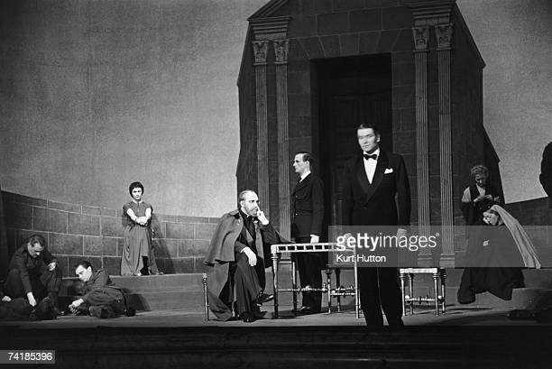 George Relph and Laurence Olivier star in an Old Vic production of 'Antigone' at the New Theatre London 26th February 1949 Original Publication...