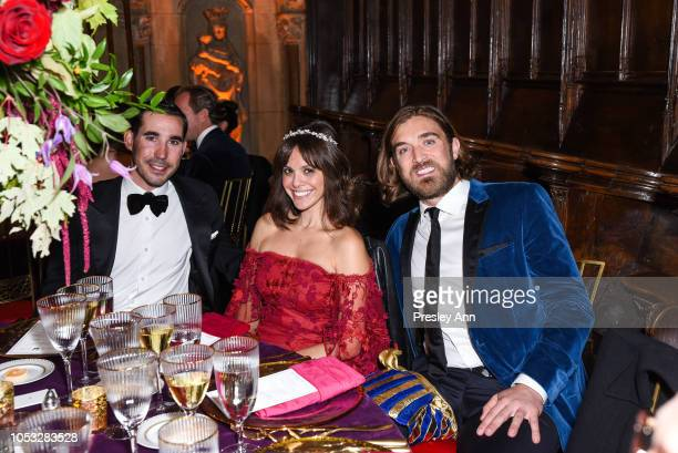 George Revel Michelle Randolph and Ben Berube attend Hearst Castle Preservation Foundation Hollywood Royalty Dinner at Hearst Castle on September 28...
