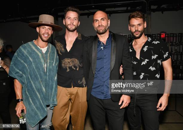 George Riveira Gardner Edmunds Mike Del Monaco and Felippe BiattiNajar attend MAC Cosmetics Aaliyah Launch Party on June 14 2018 in Hollywood...