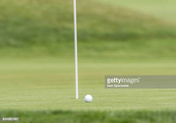 George Roberts gets a nice approach from the sand trap during the second round of the AT&T Pebble Beach Pro-Am in Pebble Beach, CA on Friday,...