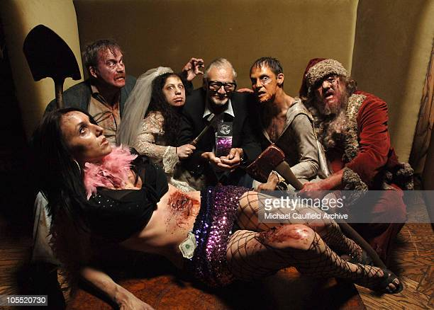 George Romero director of 'Land of The Dead' with Zombies