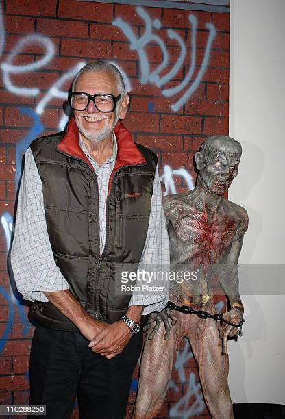 George Romero director of The Living Dead Films during 2006 Big Apple Comic Book Art Toy and Horror Expo Press Reception at Penn Plaza Pavilion in...