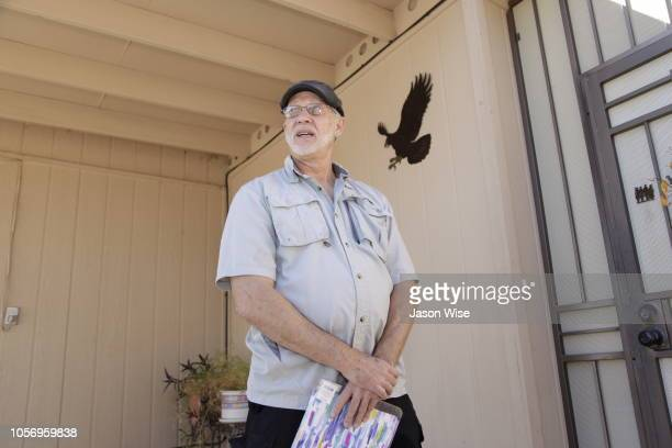 George Rowe of MoveOn canvass for Ann Kirkpatrick on November 3 2018 in Tucson Arizona