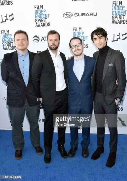 George Rush Lars Knudsen Ari Aster and Alex Wolff attend the 2019 Film Independent Spirit Awards on February 23 2019 in Santa Monica California