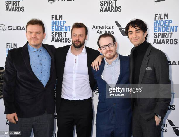 George Rush Lars Knudsen Ari Aster and Alex Wolff attends the 2019 Film Independent Spirit Awards on February 23 2019 in Santa Monica California