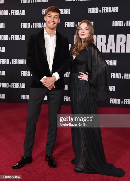 George Russell and Maisy Kay attend the Premiere of FOX's Ford v Ferrari at TCL Chinese Theatre on November 04 2019 in Hollywood California