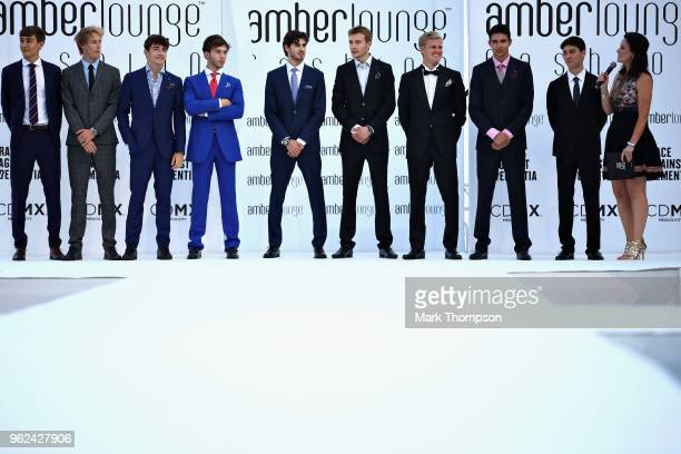 George Russell of Great Britain and Mercedes, Brendon Hartley of New Zealand and Scuderia Toro Rosso, Charles Leclerc of Monaco and Sauber F1, Pierre...