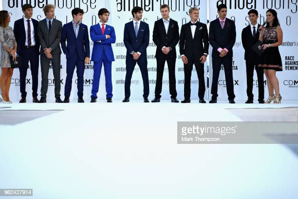 George Russell of Great Britain and Mercedes Brendon Hartley of New Zealand and Scuderia Toro Rosso Charles Leclerc of Monaco and Sauber F1 Pierre...