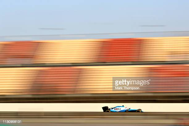 George Russell of Great Britain driving the Rokit Williams Racing FW42 Mercedes on track during day three of F1 Winter Testing at Circuit de...