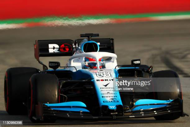 George Russell of Great Britain driving the Rokit Williams Racing FW42 Mercedes during day three of F1 Winter Testing at Circuit de Catalunya on...