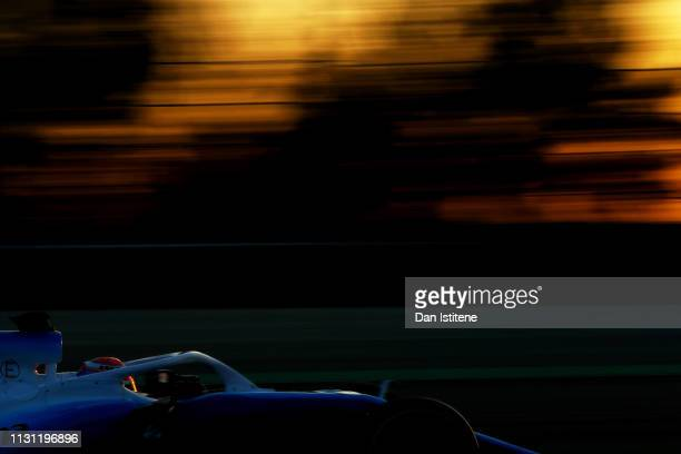 George Russell of Great Britain driving the Rokit Williams Racing FW42 Mercedes during day four of F1 Winter Testing at Circuit de Catalunya on...