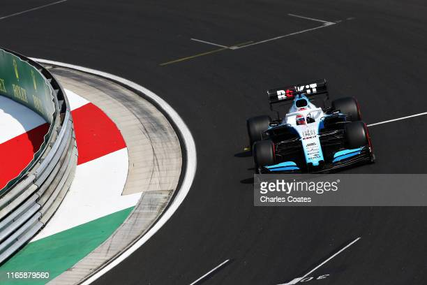 George Russell of Great Britain driving the Rokit Williams Racing FW42 Mercedes on track during qualifying for the F1 Grand Prix of Hungary at...
