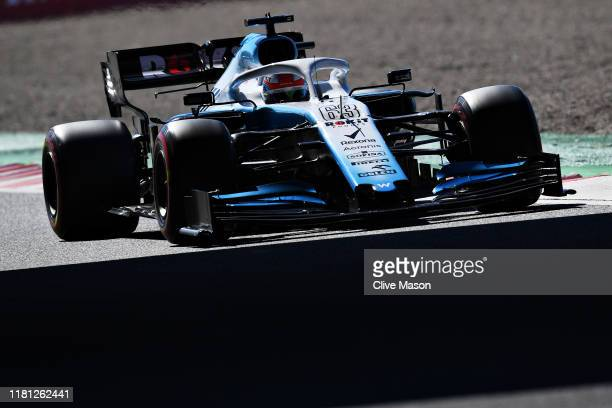 George Russell of Great Britain driving the Rokit Williams Racing FW42 Mercedes on track during qualifying for the F1 Grand Prix of Japan at Suzuka...