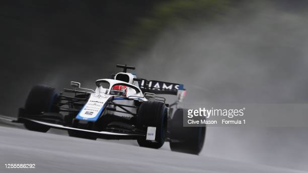 George Russell of Great Britain driving the Williams Racing FW43 Mercedes on track during qualifying for the Formula One Grand Prix of Styria at Red...