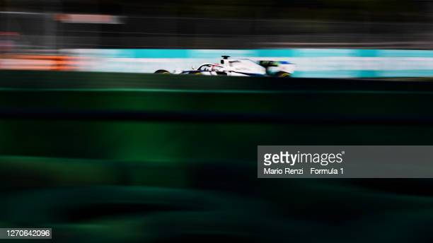 George Russell of Great Britain driving the Williams Racing FW43 Mercedes on track during practice for the F1 Grand Prix of Italy at Autodromo di...