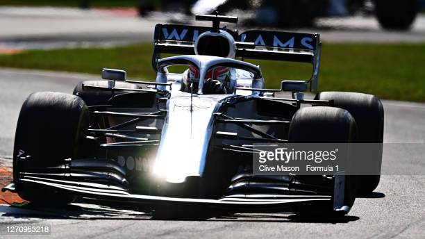 George Russell of Great Britain driving the Williams Racing FW43 Mercedes during the F1 Grand Prix of Italy at Autodromo di Monza on September 06,...