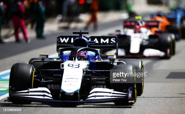 George Russell of Great Britain driving the Williams Racing FW43B Mercedes in the Pitlane during the F1 Grand Prix of Portugal at Autodromo...