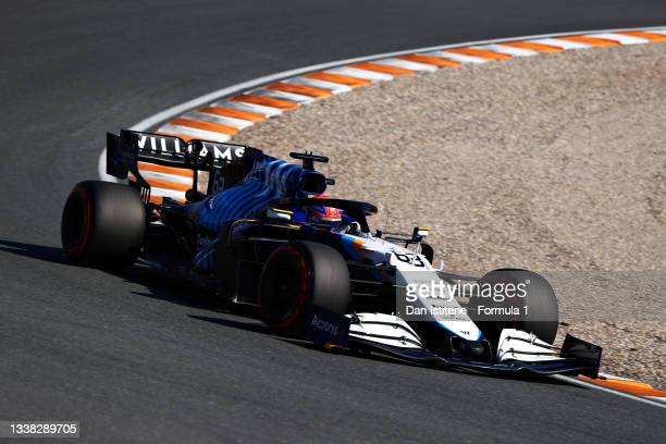 George Russell of Great Britain driving the Williams Racing FW43B Mercedes during qualifying ahead of the F1 Grand Prix of The Netherlands at Circuit...