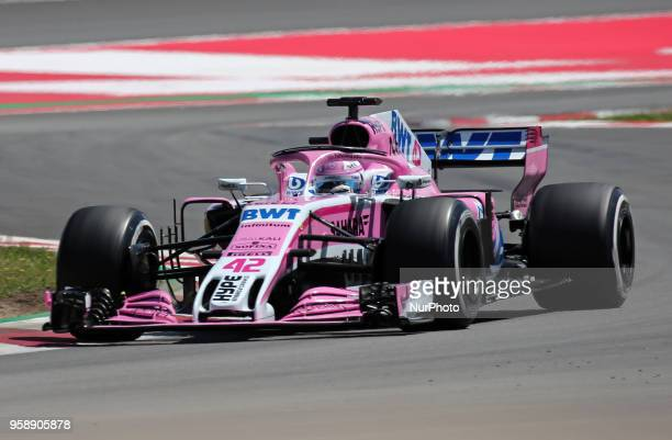 George Russell team Sahara Force India during the Formula 1 testing at the Barcelona Catalunya Circuit on 15th May 2018 in Barcelona Spain