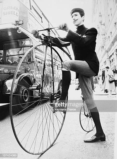 George Rutland On An Old 1883 Bicycle In London On September 1964