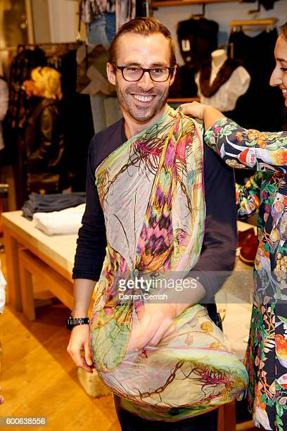 George Ryan attends the book launch of Matthew Williamson Fashion Print Colouring by Laurence King Publishing at Anthropologie on September 8 2016 in...