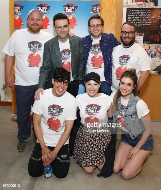 George Salazar Lauren Marcus Katlyn Carlson Jason SweetTooth Williams Joe Iconis Will Roland and Stephen Brackett attend the Meet Greet for 'Be More...