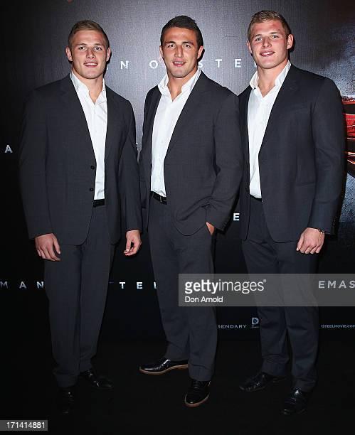 George Sam and Tom Burgess attend the Man Of Steel Australian Premiere at Event Cinemas George Street on June 24 2013 in Sydney Australia