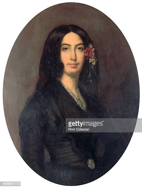 'George Sand' French novelist and early feminist c1845 Portrait of Amandine Aurore Lucie Dupin whose penname was George Sand Found in the collection...