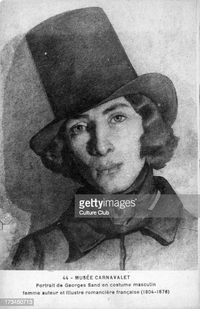 Amantine Aurore Lucile Dupin French writer 1 July 1804 8 June 1876 Caption reads 'Carnavalet Museum portrait of George Sand in masculine dress Female...
