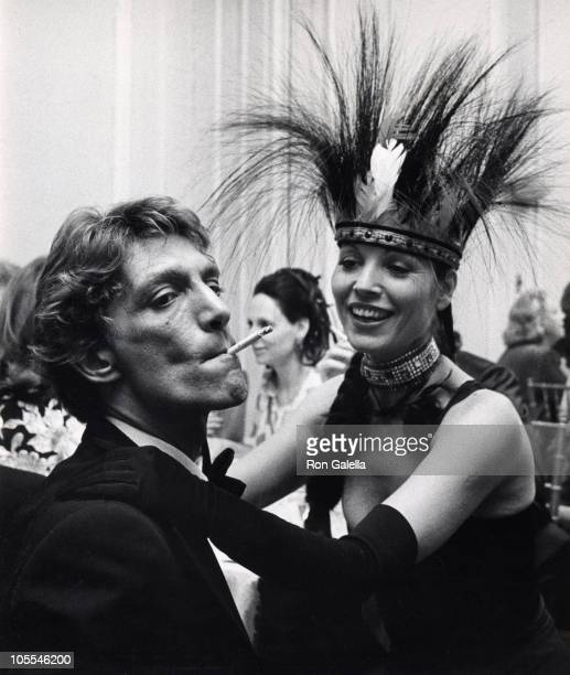 George Sant' Angelo and Elsa Martinelli during Illusions Fantasy Ball Benefit November 13 1976 at Harkness House in New York City New York United...