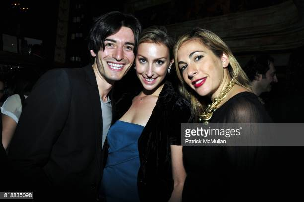 """George Satos, ? and Tina Livanos attend SOMALY MAM FOUNDATION """"Voices of Change"""" Launch Event at The Box on April 6, 2010 in New York City."""